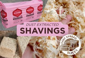 Dust extracted shavings